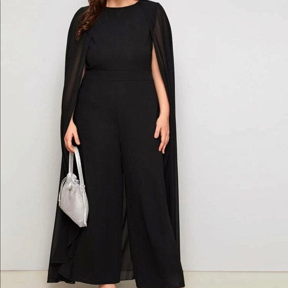 Jumpsuit with cape 2x